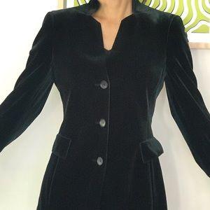 Akris Dark Green Velvet Long Jacket
